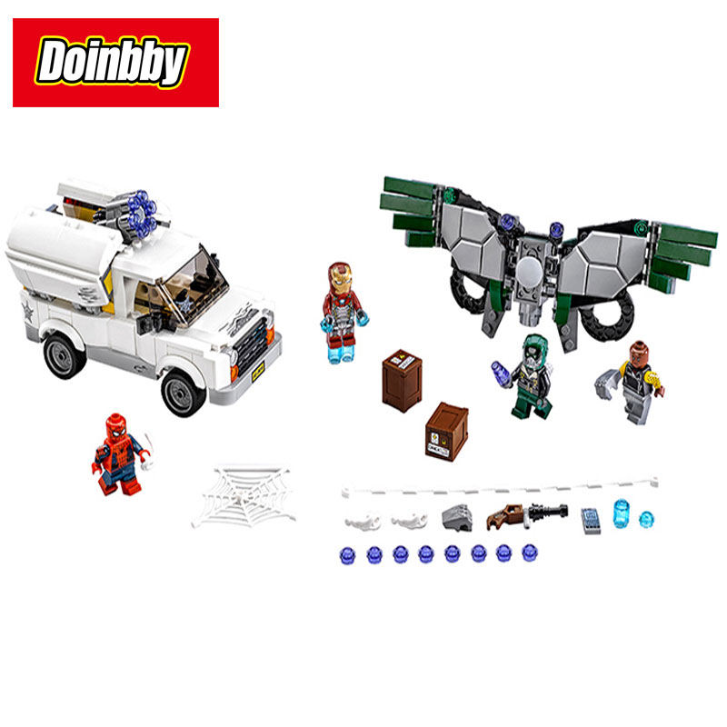 Bela 10746 Spider-Man Homecoming Super Heroes Beware the Vulture Building Block Brick Toys Compatible Legoings Spider-Man 76083 цены