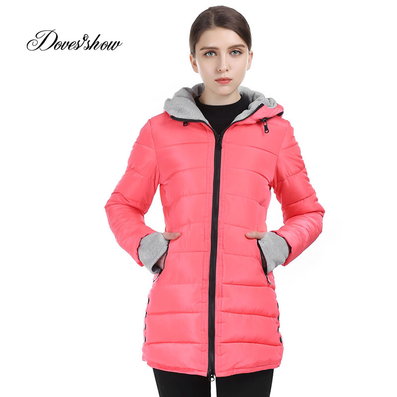 Wadded Oblečení Žena 2017 Nové ženy Zimní bunda Bavlněná bunda Štíhlý Parkas Ladies Coats Plus Velikost Casaco Feminino Snow Jacket