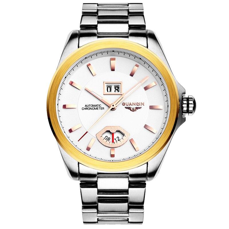 GUANQIN GJ16026 watches men luxury brand automatic mechanical watch Waterproof men's dial dual calendar business casual