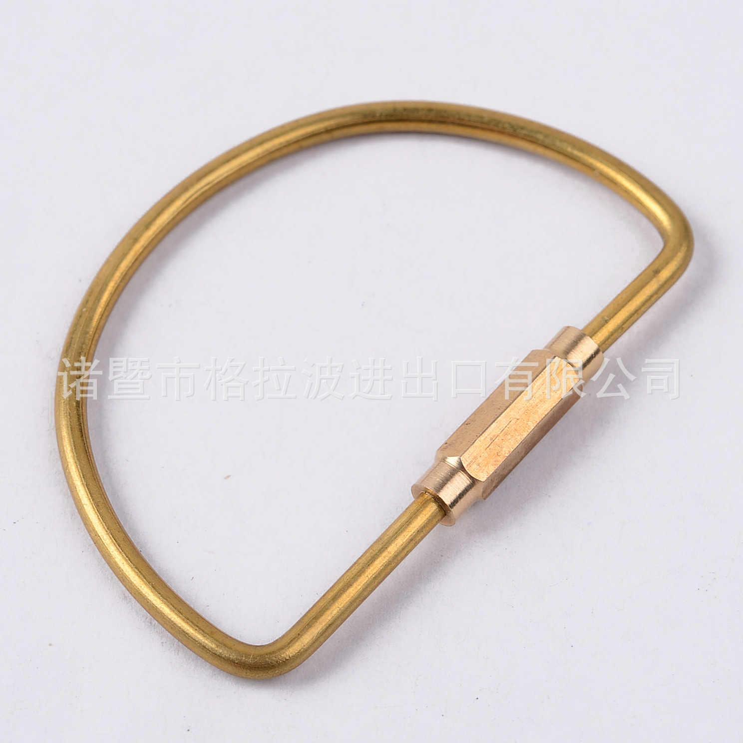 Đồng móc khóa có khóa D móc khóa Ins vàng Cắm Trại Móc Đa Năng Sống Còn Trang Bị Cắm Trại Khóa Móc chìa khóa Phụ Kiện