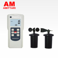 Бренд натуральной amittari Разделение тип многофункциональный Анемометр Ветер Air направление вращения температура уровня громкости Высота во