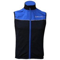 Unisex Windproof Breathable Cycling Vest Warmer Fleeced Cycling Sleeveless Jersey In Red And Bule Colour