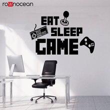 Eat Sleep Game Controller Video Decal Wall Vinyl Sticker Art Home Bedroom Retro Classic Nerd Teen Funny Gamer 3084