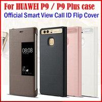 Đối với Huawei Ascend P9 Trường Hợp Bìa Gốc Chính Thức Cửa Sổ Thông Minh xem Đầy Đủ Bảo Vệ Da Lật Bìa cho Huawei P9 Cộng Với Funda