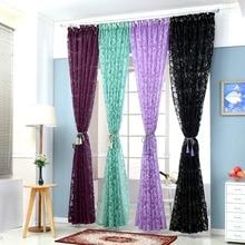 Floral colorido panel de cortinas para la ventana de cortina semi-apagón cortinas de la cocina balcón