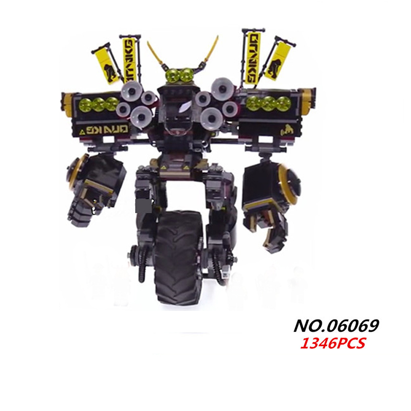 New ninja movie earth power mecha robot building block model cole fisher figures bricks 70632 toys for children gifts bix h2400 advanced full function nursing training manikin with blood pressure measure w194
