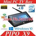 "Original 8.9"" Pipo X9 Mini PC Tv Box Dual OS Windows 10+Android 4.4 Intel Z3736F Quad Core 2GB+32GB/64GB Mini PC"