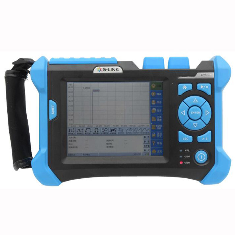 SM OTDR 1310/1550nm,32/30dB PON OTDR With VFL Optical Time Domain Reflectometer Fiber Optic OTDR Tester English,Spanish