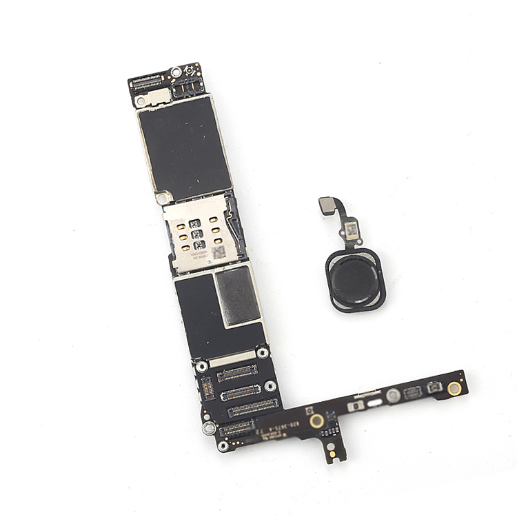 100% Full unlocked for iphone 6 plus 5.5inch Motherboard with Touch ID,64gb Black Original for iphone 6P Logic boards with Chips