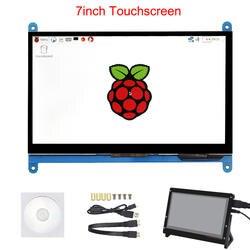 7 дюймов Raspberry Pi 3 Модель B + ЖК-дисплей сенсорный экран ЖК-дисплей 1024*600 480*800 HDMI TFT монитор + держатель чехол для Raspberry Pi 3