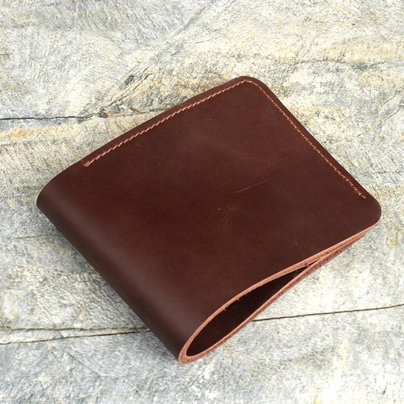 Handmade Leather Wallet Men Crazy Horse Vintage Slim Dollar Wallet for Men Desigual Money Case Cool Purses for Teenagers men vintage wallet pu leather dollar