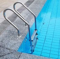 48inch Stainless Steel 3 Step In Ground Swimming Pool Equipment Ladder Anti Skid