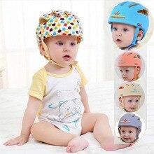 Младенческой защитный шлем защитный шлем для детей хлопка летом капот бейсболка дети вс шляпы девушка muts дети мальчики caps