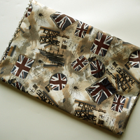 PVC Fabrics Waterproof Oxford Cloth For Patchwork Chemical Fiber Cartoon British Flag DIY Sewing Curtain Tablecloth