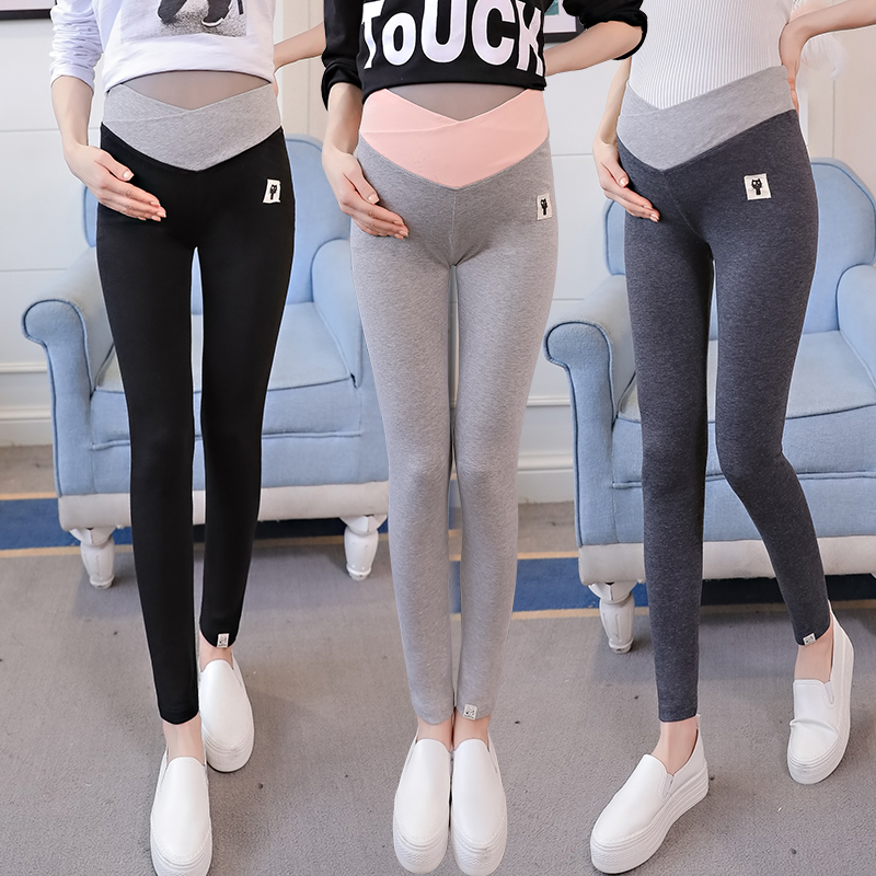 2018 Elegant Maternity Leggings Low Waist Belly Pants For Pregnant women Soft Fabric Pregnancy Thin Trousers Clothes B0391
