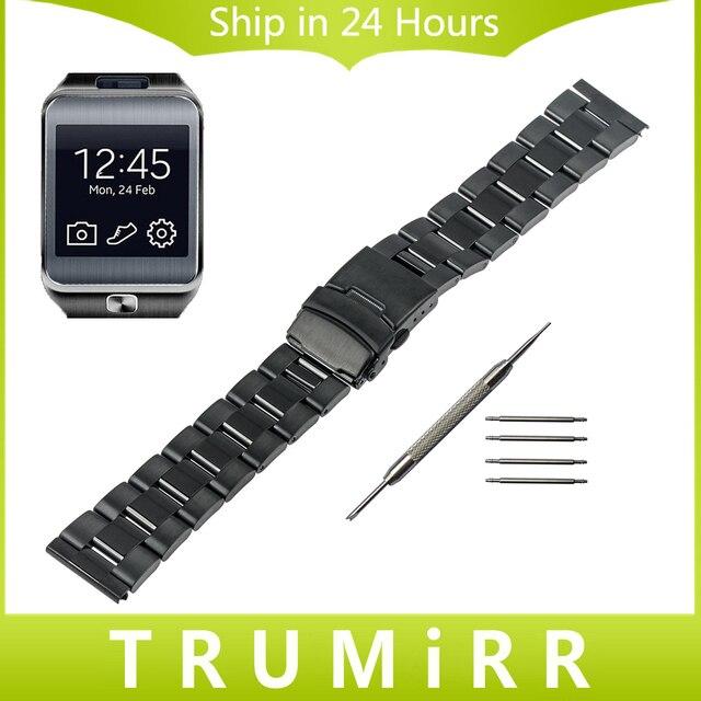 22mm Watch Band Stainless Steel Strap Bracelet for Samsung Gear 2 R380 Neo R381 R382 Moto 360 2 46mm Asus Zenwatch 1 2 Men 22mm