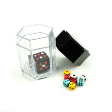 New Funny Magic Tricks Colorful Bomb Dice 1 change 8 Dices Magic Props Easy to do Amazing Toys цена