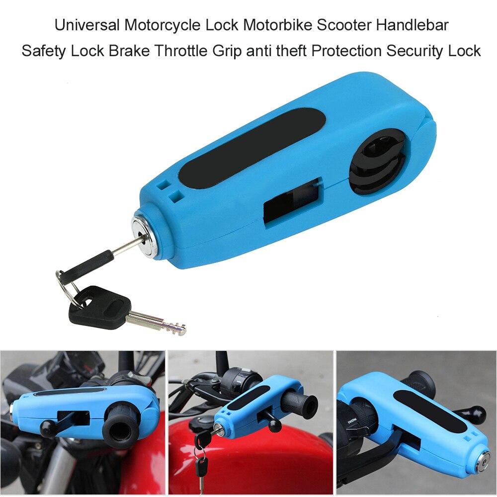 Universal Motorcycle Lock Motorbike Scooter Handlebar Safety Lock Brake Throttle Grip Anti Theft Protection Security Locks