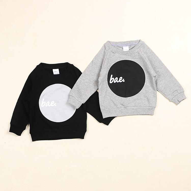 INS autumn NUNUNU tops children's circle print Sweater Baby Cotton full sleeve T-shirt boy girl tops clothes free shipping