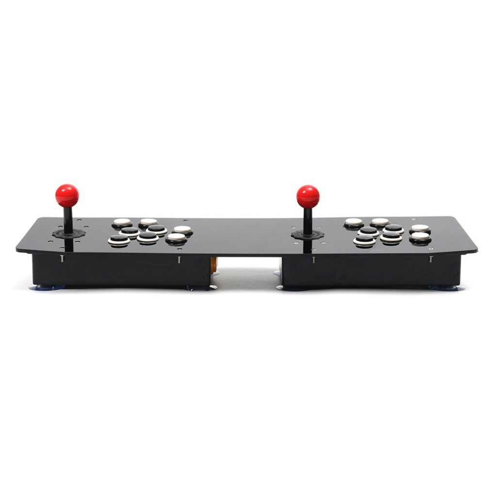Ergonomic Design Double Arcade Stick Video Game Joystick Controller Gamepad For Windows PC Enjoy Fun Game nygacn usb controller gamepad arcade rocker android game pc game and play street fighting feeling arcade game special