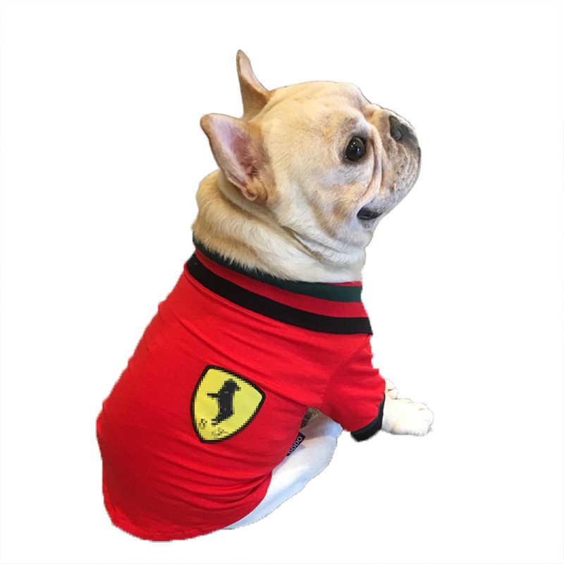 高級犬シャツサマーおかしい服ベスト猫綿ペット服花 Tシャツ小大犬ポロチワワフレンチブルドッグ