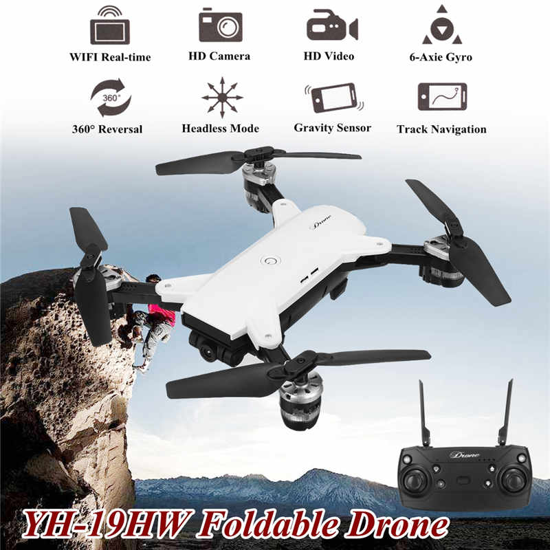YH-19HW Wifi FPV 2MP Camera Foldable 2.4G 4CH Selfie Quadcopter Drone RC Toys Gifts yh 19hw wifi fpv 2mp camera foldable 2 4g 4ch selfie quadcopter drone rc toys gifts