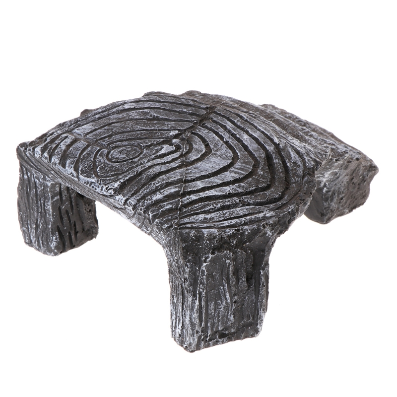 New Unique Design Resin Turtle Amphibians Tortoise Basking Reptile Platform Tank Aquatic Water Rock Ladder Basking Island Climb