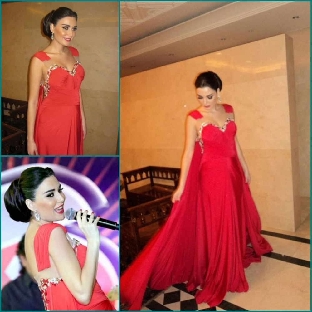 2015 New Design Sweetheart Sexy Red Muslim Evening Arabic Modest Formal Gown Party Robe De Soiree Mother Of The Bride Dresses
