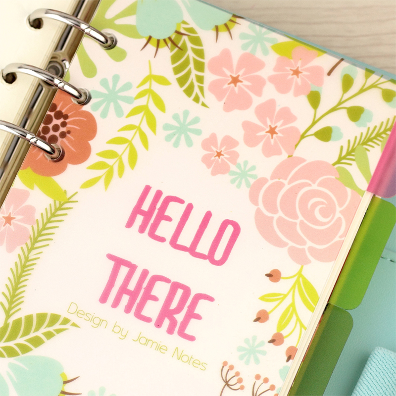 Blooming Flower PP Dividers for Spiral Notebook Transparent Separator Page Index Paper Core for Agenda Planner Organizer A5A6 tefal pp 1003 v0 page 5