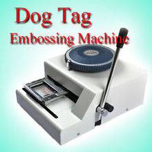 Embossing-Machine Pet-Dog-Tag Manual Code-Characters Military Stainless-Steel GI Metal