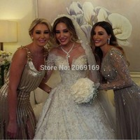 custom made white long wedding dress boat neck half sleeves beaded flowers merry bridal gowns wedding party dresses