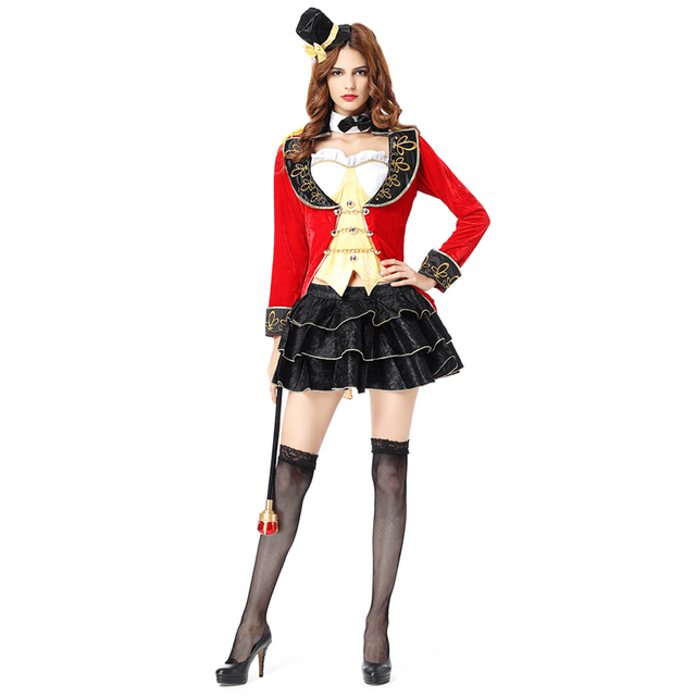 a04864e995b New Halloween Costumes Magician clothes Circus conductor tuxedo Cosplay  garment Party costumes pirate costume woman