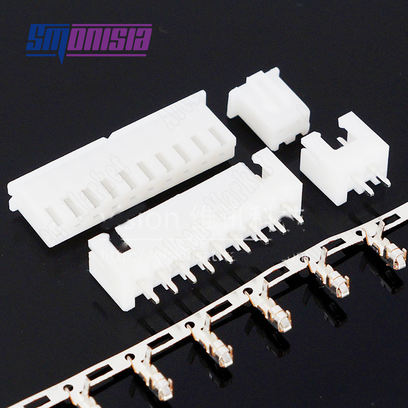 1000pcs-5000pcs XH2.54 Straight Pin Connector Assembly Include Jack, Pins And  Terminal 2P / 3P / 4P / 5P / 6P / 7P / 8P-12P bonatech 2 pin straight pin socket connector white 1000 pcs