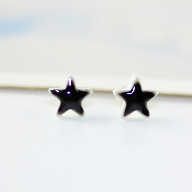 Ceramic Star Earrings For Women Men Stud Earrings Colorful Ethnic Handmade Charm Earring Fashion Porcelain Pendientes Jewelry