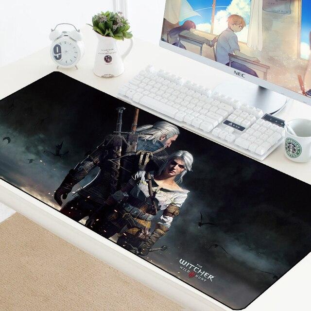 Коврик для мыши «Ведьмак 3 Дикая Охота» игровая геймерская клавиатура компьютерный стол коврик для мыши Блокировка резиновая прокладка моющиеся DIY колодки 700X300 мм