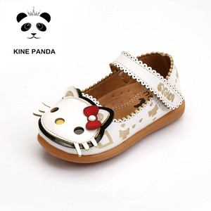 KINE PANDA Princess Dress Shoes Girls Kids Toddler Baby Girl KITTY Dance Shoes Kindergarten 1 2 3 4 5 Years Old(China)