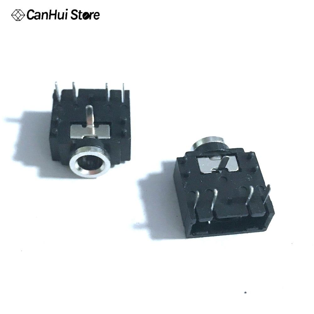 1-10pcs 3.5mm Stereo Audio PCB Mount Socket 5pins w Open Switch Low Profile Jack
