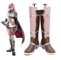 O Envio gratuito de Botas de Final Fantasy XIII 13 Relâmpago Jogo Cosplay Shoes