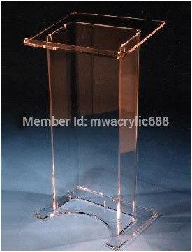 High Soundness Modern Design Cheap Clear Acrylic Lectern Podium Plexiglass