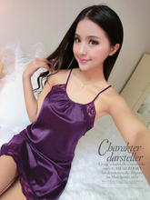 2019 Summer style Plus Size Condole Womens Kimono Satin Long Silk Sexy Lingerie Hot Nightgown Sleepwear