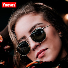Yoovos 2019 Vintage Metal Mirror Sunglasses Women/Men Brand