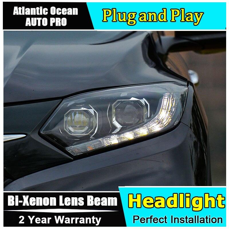 for Honda VEZEL HRV headlights 2015 2017 models car styling LED car styling xenon lens car