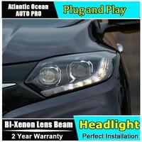 for Honda VEZEL HRV headlights 2015 2017 models car styling LED car styling xenon lens car light led bar H7 led parking light
