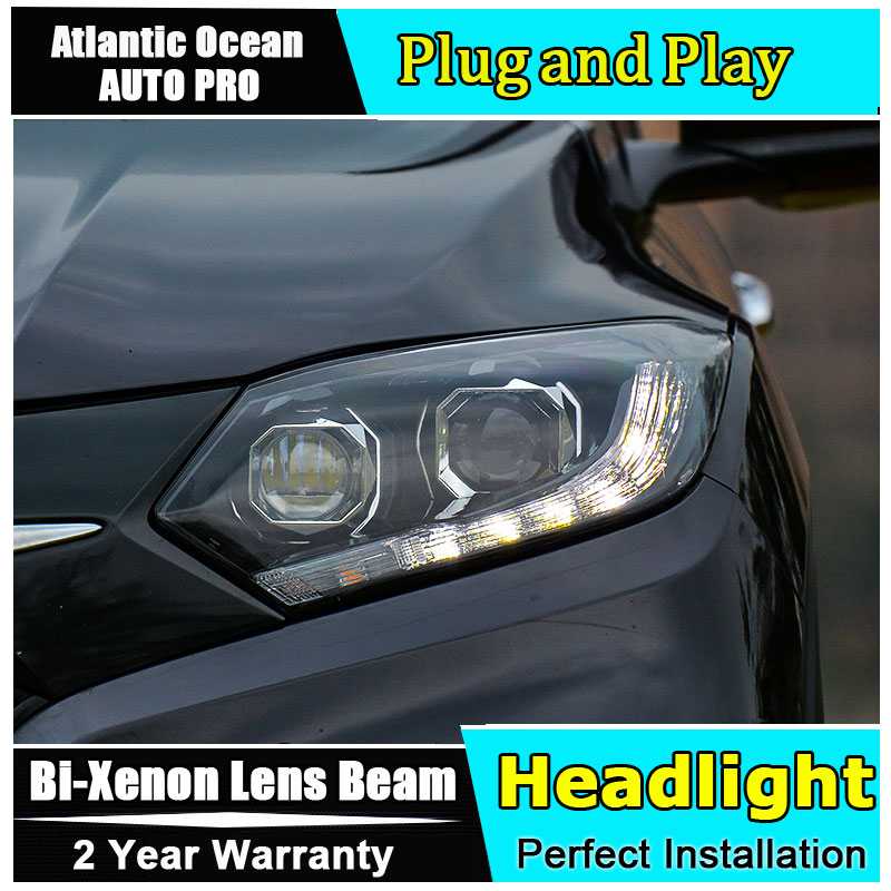 for <font><b>Honda</b></font> VEZEL <font><b>HRV</b></font> <font><b>headlights</b></font> 2015-2017 models car styling LED car styling xenon lens car light led bar H7 led parking light image