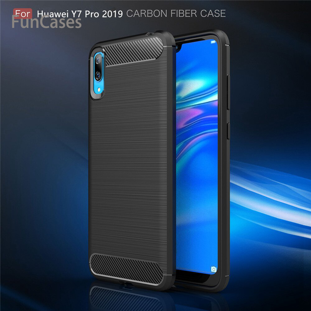 For Huawei <font><b>Y7</b></font> Pro <font><b>2019</b></font> Case Cover Luxury Shockproof Soft TPU Silicone Back Cover <font><b>Funda</b></font> Coque For Huawei <font><b>Y7</b></font> Pro <font><b>2019</b></font> <font><b>Hawei</b></font> image