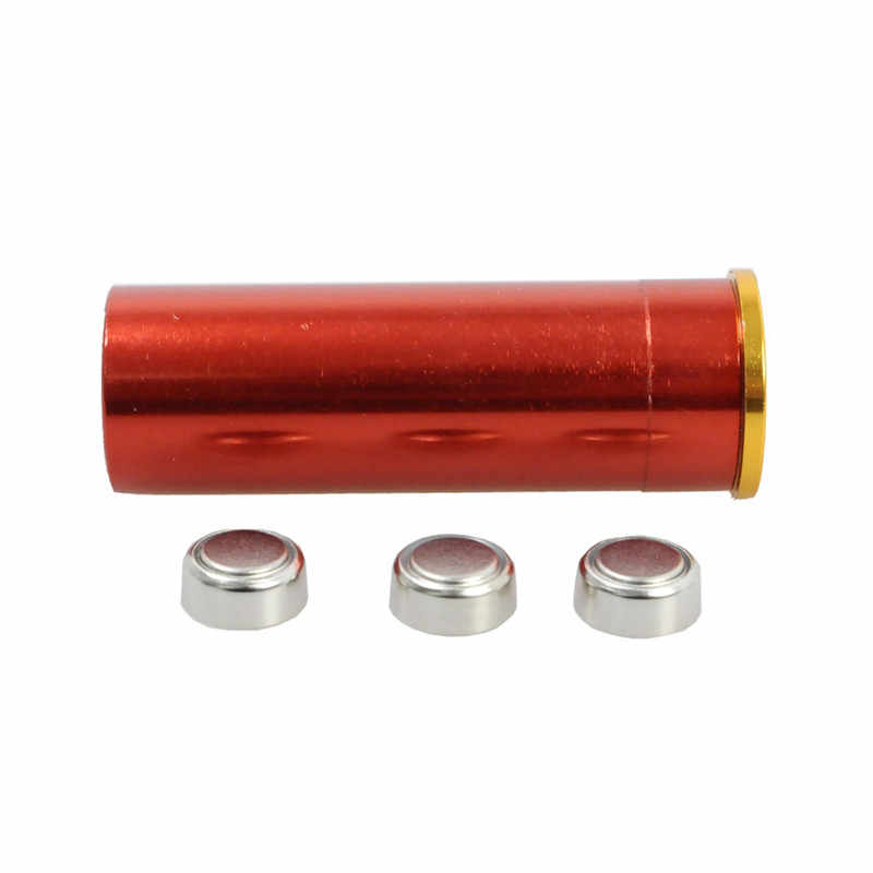 12 GAUGE 12 GA Cartridge Laser Bore Sight Boresighter Red Dot Laser Brass Scopes Riflesighter Airsoft Hunting Copper Tools