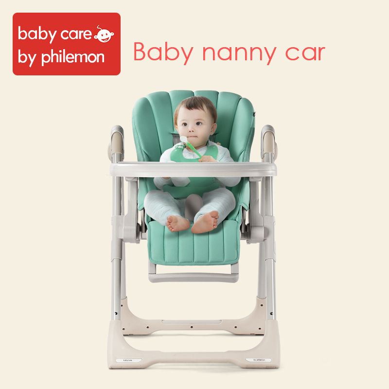 BabyCare Baby HighChair Adjustable Foldable Folding Kid Dinner Table Seat Chair Five Point Seat Belt Infant Feeding High Chair