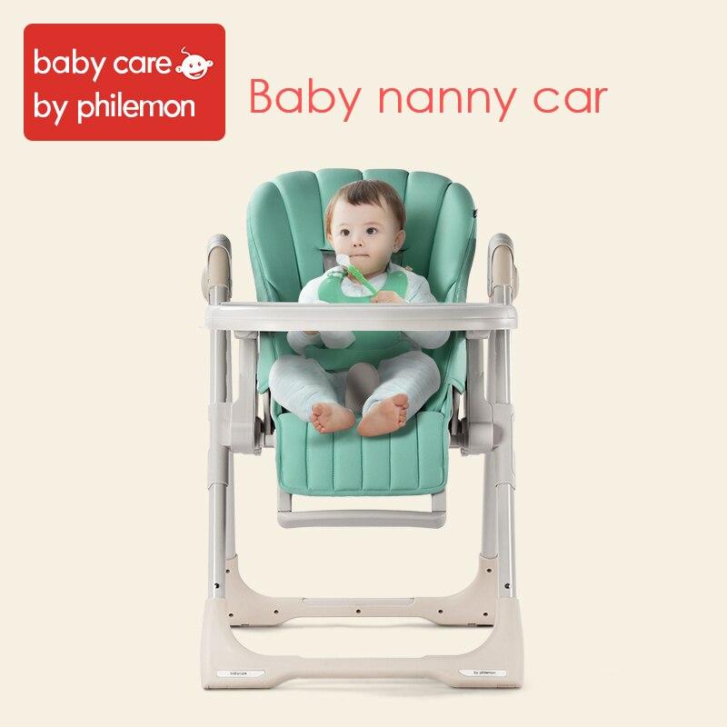 € 228.48 52% de réduction|BabyCare bébé chaise haute réglable pliable pliable enfant Table de dîner siège chaise cinq points ceinture de sécurité