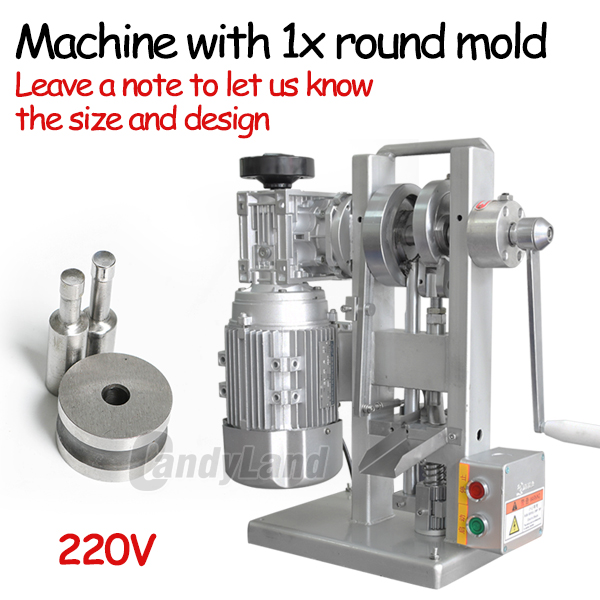 US $682 0 38% OFF|CandyLand THDP 3 Single Punch Pill Tablet Press Punching  Die Maker Pressing Machine Motor Driven and Handle Candy Stamping Maker-in