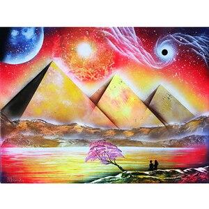 Алмазная картина Волшебные пирамиды глаза Стразы мозаика 5D DIY квадратная/круглая вышивка полная витрина, домашний декор египетское искусст...